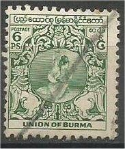 BURMA, 1949, used 6p, Ball Game, Scott 103