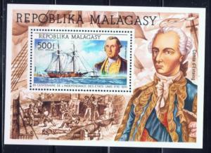Malagasy C140 NH 1955 U.S. Bicentennial souvenir sheet