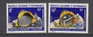 J28764 1973 new caledonia set mnh #403-4 fish