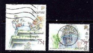 Singapore 592-93 Used 1991 partial set
