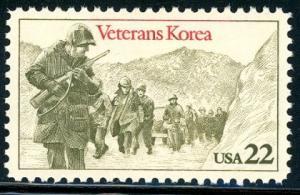 2152 Veterans of Korea F-VF MNH single