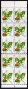 Palau 133a Flowers Booklet Pane MNH VF