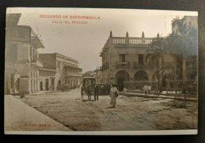 1913 Market Street Barranquilla Columbia to Morocco Real Picture Postcard Cover
