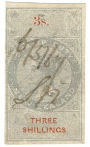 (I.B) New Zealand Revenue : Stamp Duty 3/-