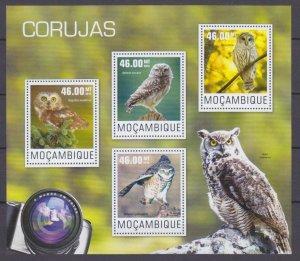 2014 Mozambique 7600-7603KL Birds / Owl 10,00 €