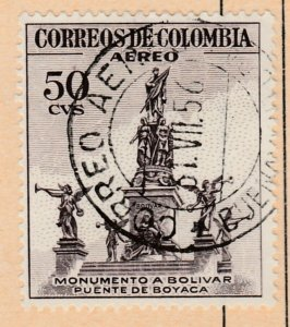 Colombia Air Post 1954 50c Fine Used A8P55F90