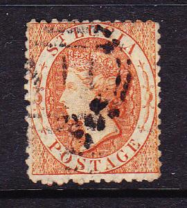 ST LUCIA 1864 1/- ORANGE  QV FU  SG 14