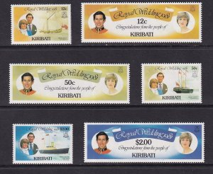 Kiribati  #373-378  MNH  1981 royal wedding Lady Diana