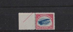United States, C3, Jenny w/Margin Airmail Single, MNH