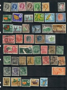 RHODESIAS  MIXTURE x 46  MOSTLY PRE INDEPENDANCE ALL DIFFERENT , USED LOT h A