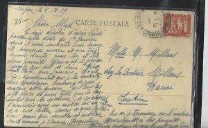 FRENCH INDOCHINA  (PP3008B) 1940 PPC FROM  SAIGON TO HANOI