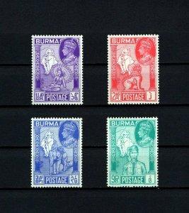 BURMA - 1946 - KG VI - PEACE ISSUE - WW II - CHINZE - ELEPHANT + MINT - MNH SET!