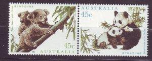 J23754 JLstamps 1995 australia mnh pairs set mnh #1459 bears