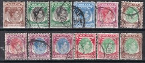 SINGAPORE ^^^^1948-52  sc# 4a//20a  better used collection  $$@ lar 2033singa