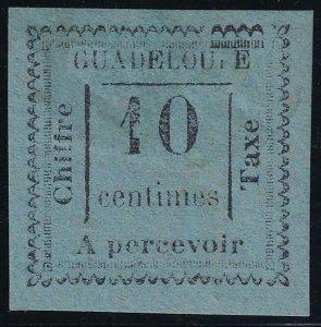 Guadeloupe 1879 SC J7 Mint