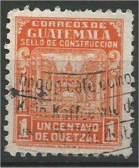 GUATEMALA, 1945, used 1c, Communications Building Scott RA22