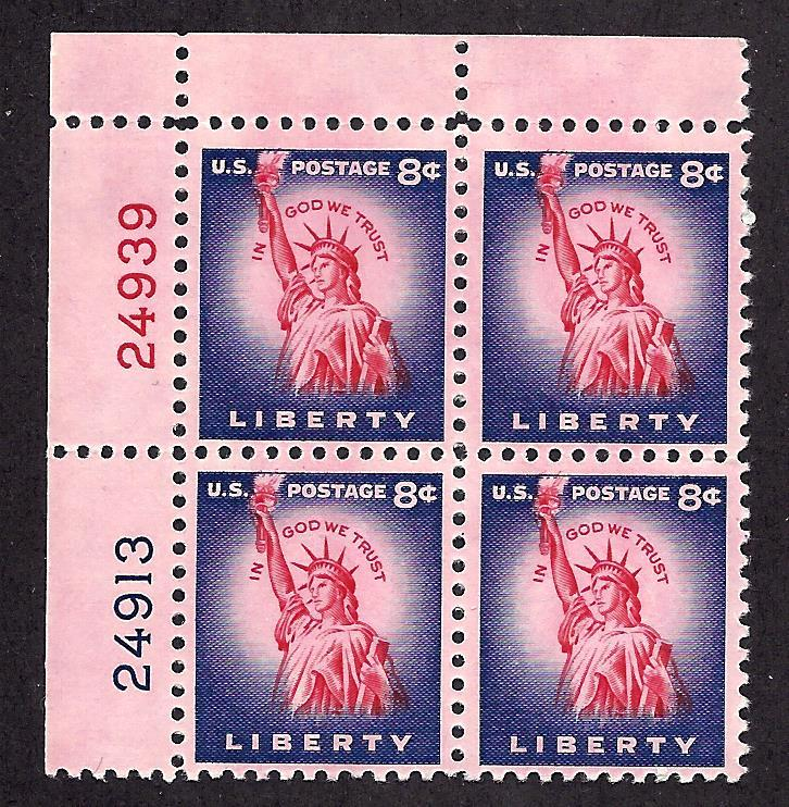 1041 Mint,OG,NH... Plate Block of 4