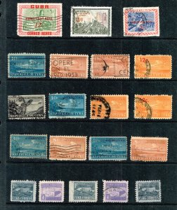 US STAMP CUBA STAMP USED STAMP COLLECTION LOT