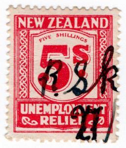 (I.B) New Zealand Revenue : Unemployment Relief 5/-