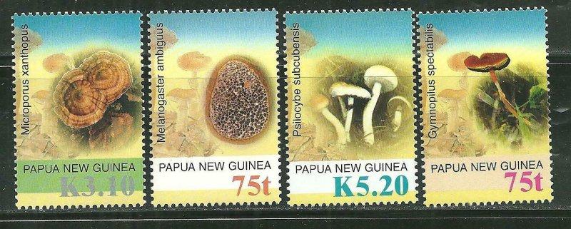 Papua New Guinea MNH 1176-9 Mushrooms 2005