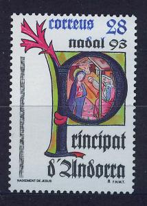 ANDORRA SPANISH 1993 MNH SC.226 Christmas