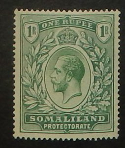 Somaliland Protectorate 60. 1912 1R Dull green and green KGV