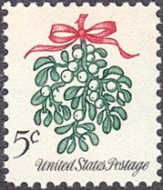 United States # 1255 mnh ~ 5¢ Christmas - Mistletoe