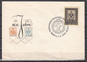 Austria, Scott cat. 572. Centenary of Austrian Stamps issue. First day cover.