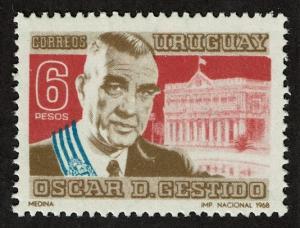 Uruguay Scott 763 MNH (1968) President Oscar Gestido