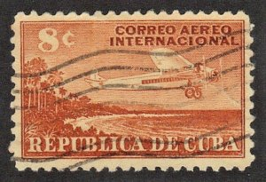 CUBA SC# C40  **USED** 1948  8c   AIRMAIL  SEE SCAN
