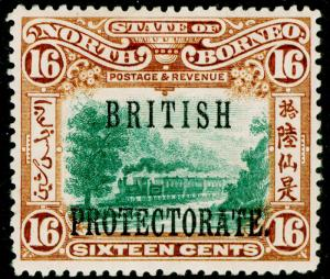 NORTH BORNEO SG136a, 16c green & chestnut, VLH MINT. Cat £180.