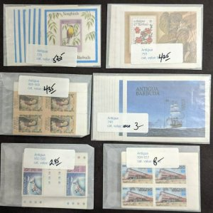 EDW1949SELL : ANTIGUA Collection of all Cplt sets & S/S. 10 of each. Sc Cat $278