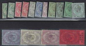 Gibraltar 1912 SC 66-75,67a,71a-c Mint SCV$ 517.00 Set