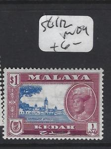 MALAYA KEDAH  (PP2303B) SULTAN SG  112  MOG