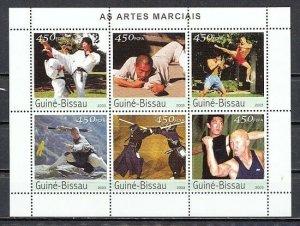 Guinea-Bissau MNH S/S Martial Arts 2003