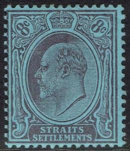 STRAITS SETTLEMENTS 1904 KEVII 8C WMK MULTI CROWN CA