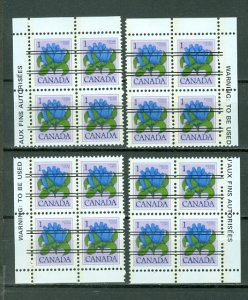 CANADA  FLOWERS PRECANCELS  #705xx..INSCRIPTION CORNERS SET..MNH...$4.00