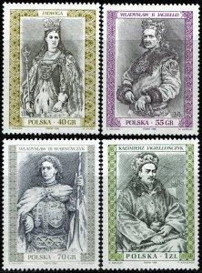 Poland #3309-12 MNH - Polish Royalty (1991)