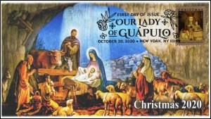 20-265, 2020,Our Lady of Guapulo, First Day Cover, Pictorial Postmark, Christmas