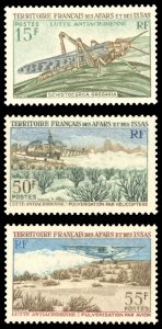 Afars and Issas 1969 Scott #334-336 Mint Never Hinged
