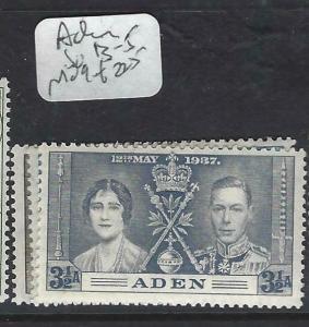 ADEN (PP2703B)  KGVI CORONATION  SG 13-5   MOG