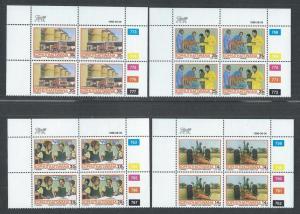 BOPHUTHATSWANA SC# 180-3 CONTROL B/4 COMPLETE SET FVF/MNH