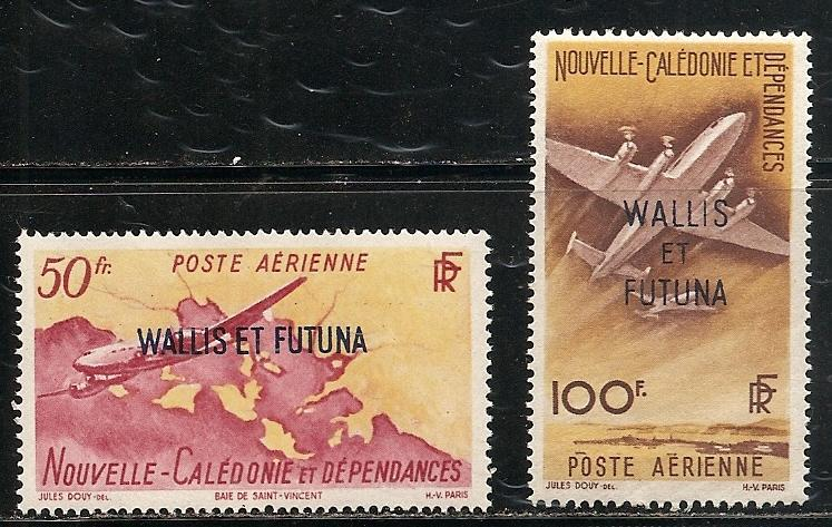 Wallis and Futuna Islands C8-9 1949 Airmails set MNH