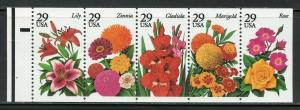 US SCOTT# 2833a FLOWERS UNFOLDED COMPLETE UNEXPLODED BOOKLET OF 5 MNH AS SHOWN