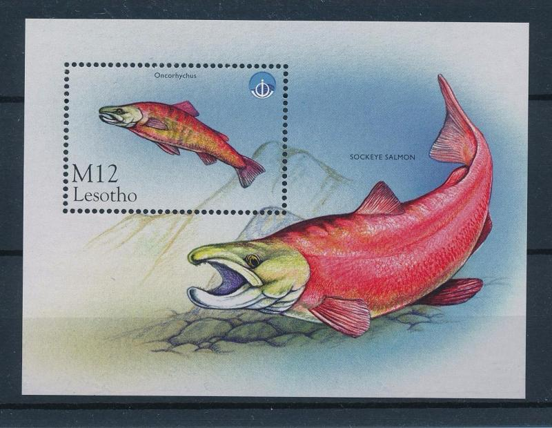 [49688] Lesotho 1998 Marine life Fish Salmon Unesco MNH Sheet
