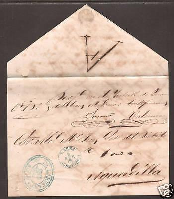 Puerto Rico, 1862 Official Cover Front to Aguadilla, m/s ABONO