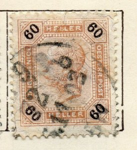 Austria 1899 Early Issue Fine Used 60h. NW-11520