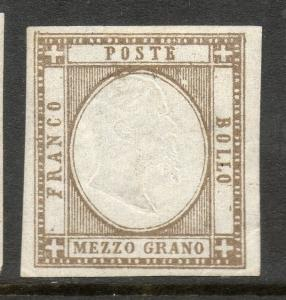 Italian States Sicily Neapolitan Scott #20a VF Mint OG Stamp