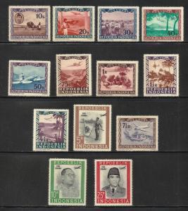 Indonesia Air Mail 1948 Scott# C1-C13 MNH