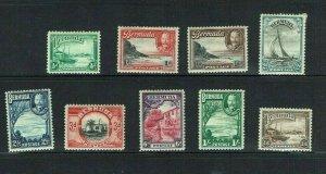 Bermuda : 1936, King George V  definitive, short set to 1/6  Mint